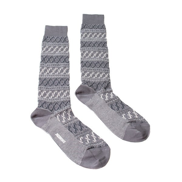 Missoni GM00CMU5243 0006 Gray/Black Knee Length Socks - Grey
