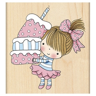 "Penny Black Mounted Rubber Stamp 3""X3.25""-Cupcake Mimi"