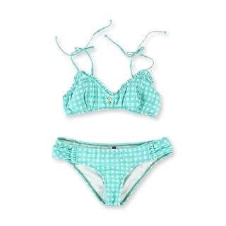 Link to Bikini Lab Womens Bralette Hipster 2 Piece Bikini, Blue, X-Large Similar Items in Intimates