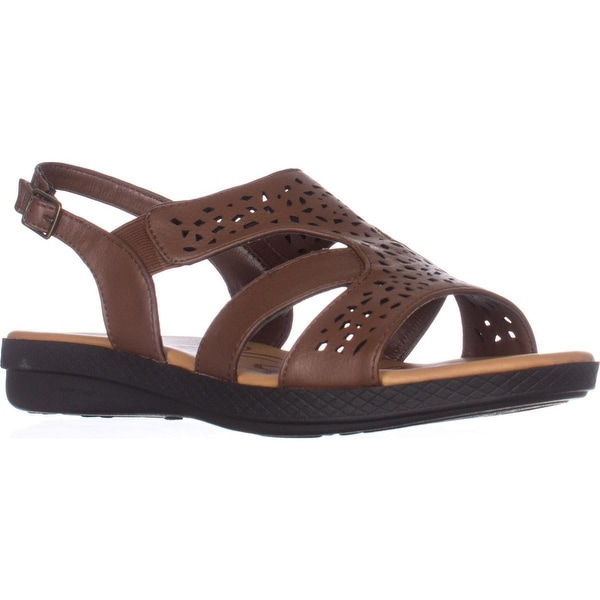 Easy Street Bolt Flat Slingback Sandals, Tan