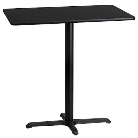 24'' x 42'' Rectangular Laminate Table Top with 22'' x 30'' Bar Height Table Base