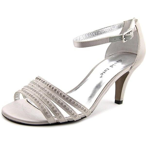 9f0fd1491113 Shop David Tate Terrace Women WW Open Toe Canvas Silver Sandals ...