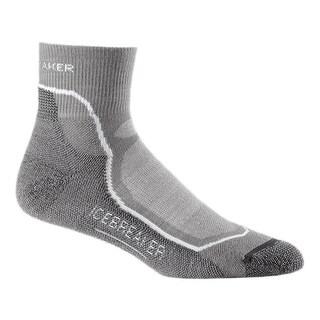 Icebreaker 2015/16 Men's Hike+ Lite Mini Sock - 100327 - fossil/white/monsoon