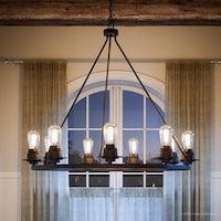Shop Shea Bronze Edison Bulb 9-light Chandelier - On Sale - Free ...