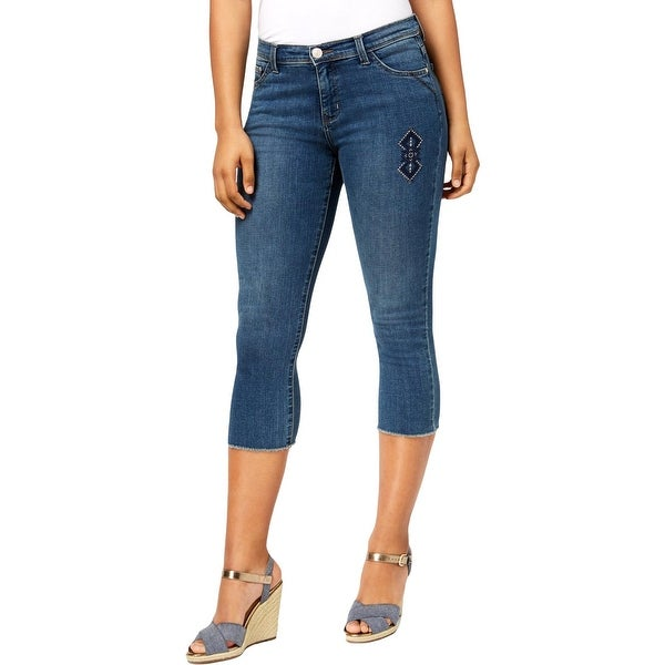 Lee Womens Kyla Capri Jeans Denim Slimming Fit