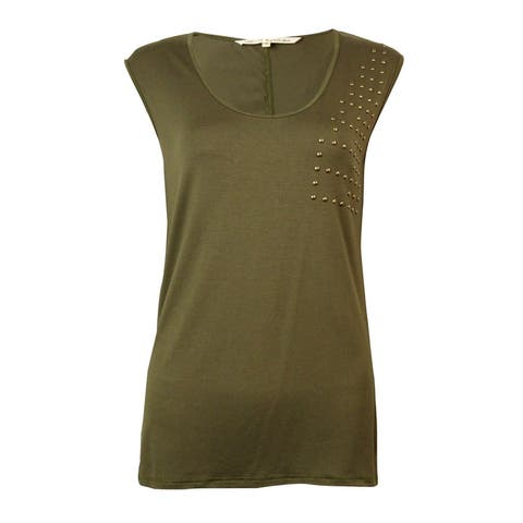 Rachel Roy Women's Studded Sleeveless Blouse