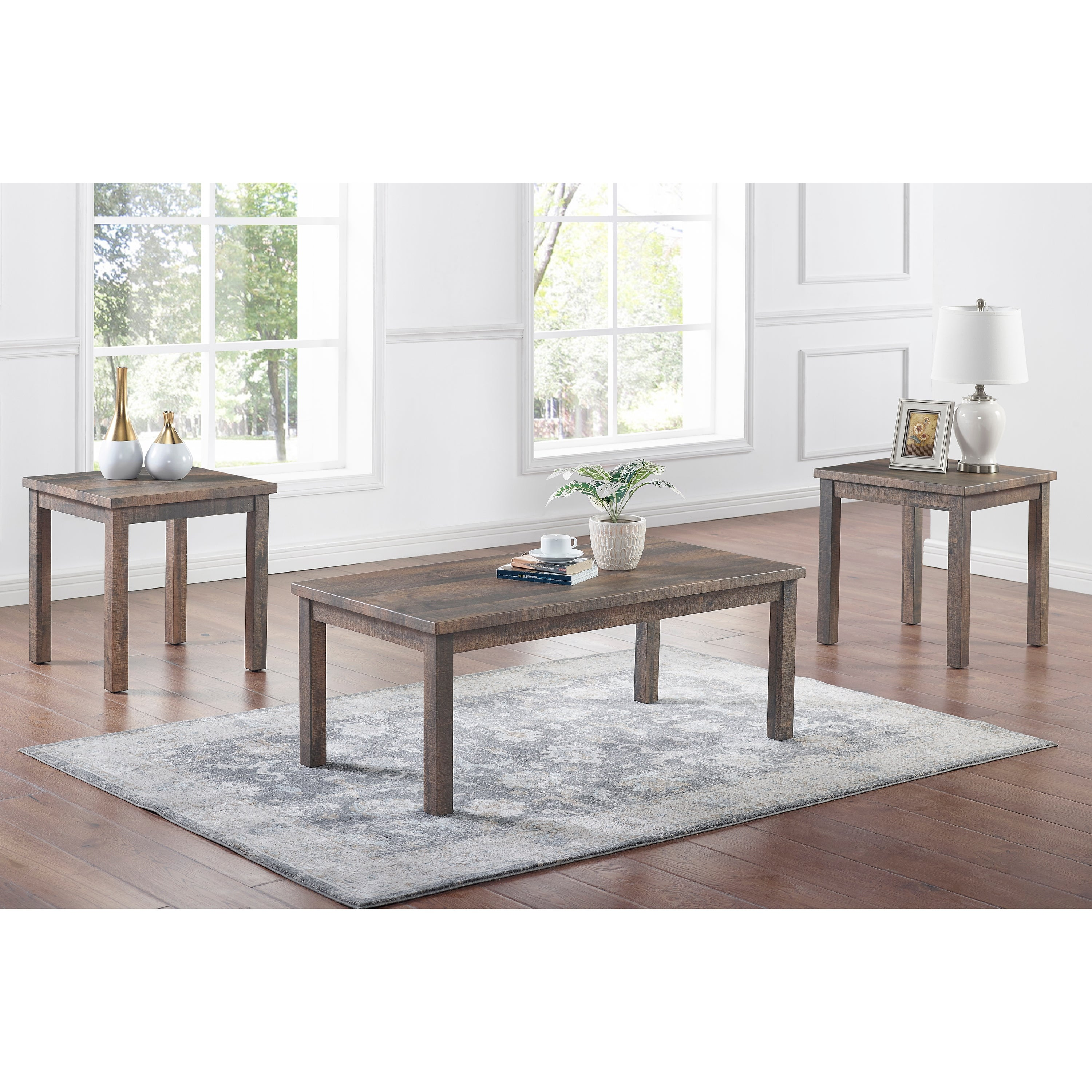 Picture of: Furniture Of America Boisee 3 Piece Coffee Table And End Tables Set Overstock 32518733