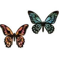 Mini Detailed Butterflies - Sizzix Thinlits Dies By Tim Holtz 4/Pkg