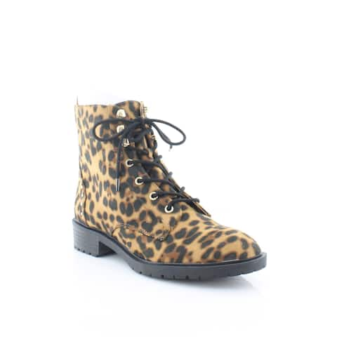 Material Girl Odelia Women's Boots Leapord Micro - 9.5
