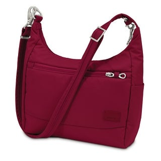 Pacsafe Citysafe CS100-Cranberry Anti-Theft Travel Handbag