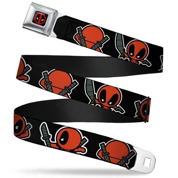 Marvel Universe Deadpool Logo Full Color Black Red White Kawaii Deadpool Seatbelt Belt