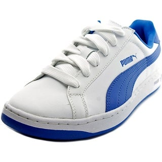 Puma Smash L Jr Youth Round Toe Leather White Sneakers