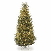 7.5 ft. Natural Fraser Slim Fir Tree with Clear Lights - green