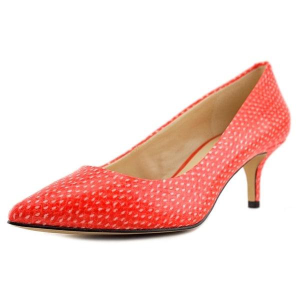 Nine West Xeena Women Pointed Toe Leather Red Heels