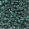 Toho Round Seed Beads 8/0 1207 'Marbled Opaque Turquoise/Blue' 8 Gram Tube - Thumbnail 0