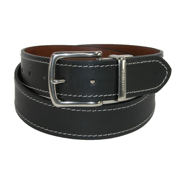 fd4458c66093 Shop Tommy Hilfiger Men s Reversible Belt with Contrast Stitch ...
