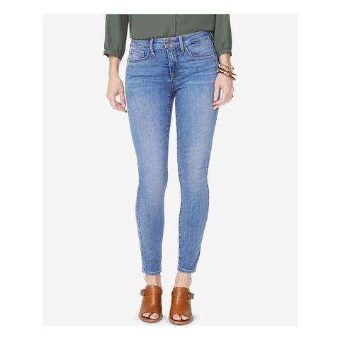 NYDJ Womens Blue Zippered Straight leg Jeans Size 6