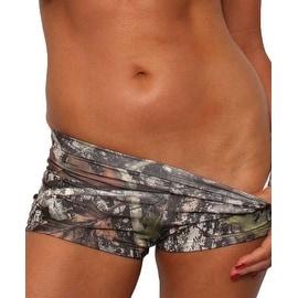 Women's Green Camo Authentic True Timber Bikini Hot shorts BOTTOM ONLY Beach Swimwear