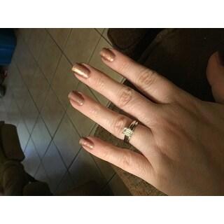 Annello by Kobelli White Gold 1ct. Solitaire Emerald-cut Moissanite (HI) Bridal Set