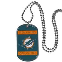 Miami Dolphins Necklace Tag Style