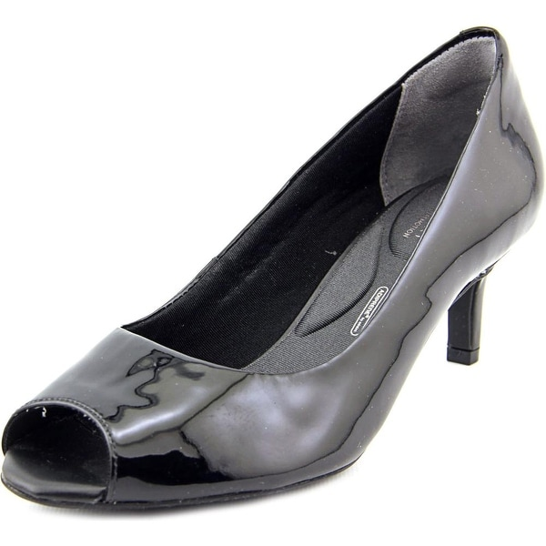 Rockport Finula Peep Women W Peep-Toe Patent Leather Heels