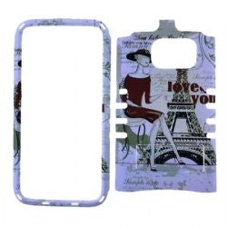 Rocker Snap On Case for Samsung GS7 - Eiffel Tower Design
