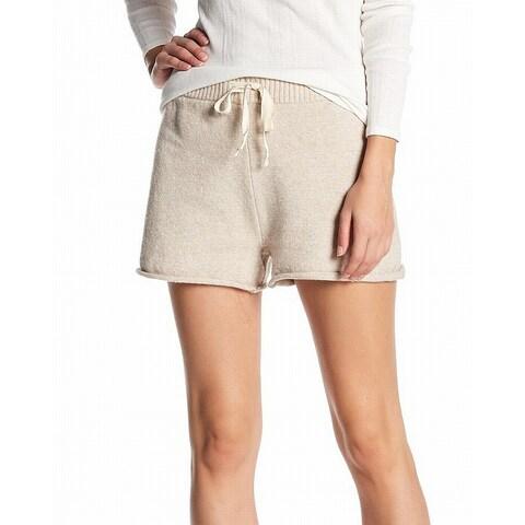Abound Truffle Beige Womens Size XL Drawstring Sweater Sleep Shorts 437