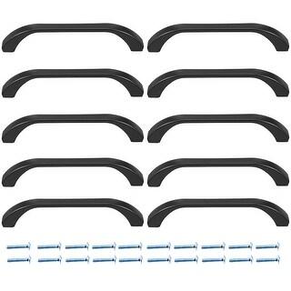 Cupboard Zinc Alloy Pull Handle 3-3/4 Inch Hole Centers Flat Black 10pcs