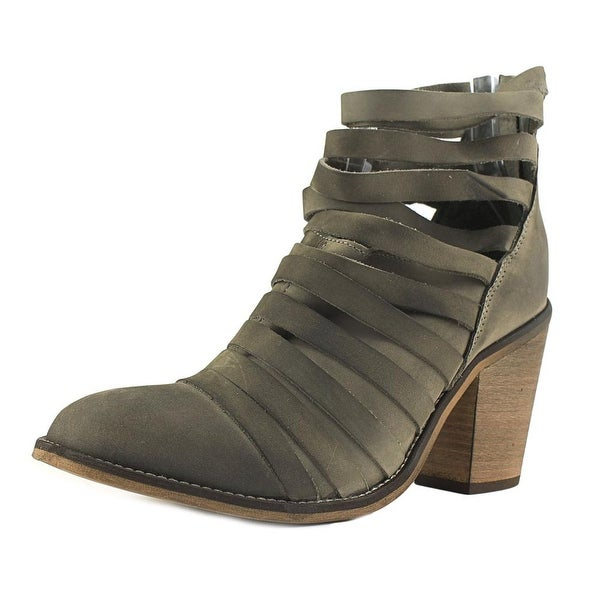 Free People Hybrid Women Round Toe Leather Gray Bootie