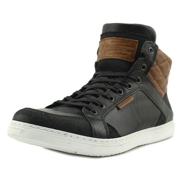 Bull Boxer Martyn Men Round Toe Leather Black Sneakers