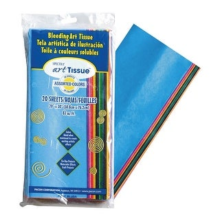 Spectra Deluxe Bleeding Tissue Paper, 20 x 30 Inches, Bright Colors, Pack of 10