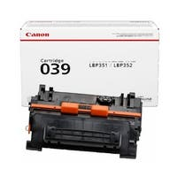 Canon 039 Toner Cartridge - Black 0287C001 Toner Cartridge