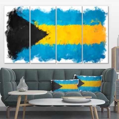 Designart 'Bahamas Flag' Flag Canvas Print