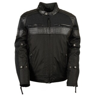 Mens Textile Scooter Jacket With Leather Accents