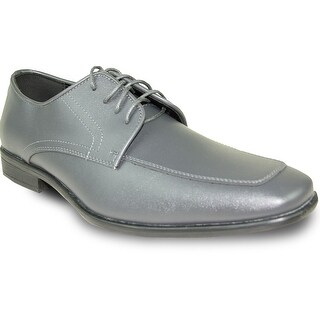 ALLURE MEN Dress Shoe AL01 Oxford Formal Tuxedo for Prom & Wedding Steel Grey - Wide Width Available