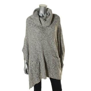 Bass Womens Marled Cowl Poncho Sweater