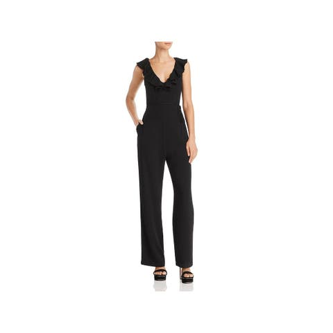WAYF Womens Jumpsuit Ruffled Night Out