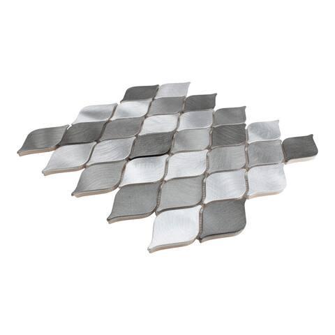 Giorbello Marina Silver Teardrop Mosaic Tile (Case of 11 Sq. Ft.)