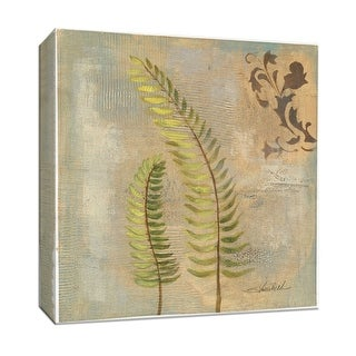 "PTM Images 9-153417  PTM Canvas Collection 12"" x 12"" - ""Fern Tile II"" Giclee Ferns Art Print on Canvas"