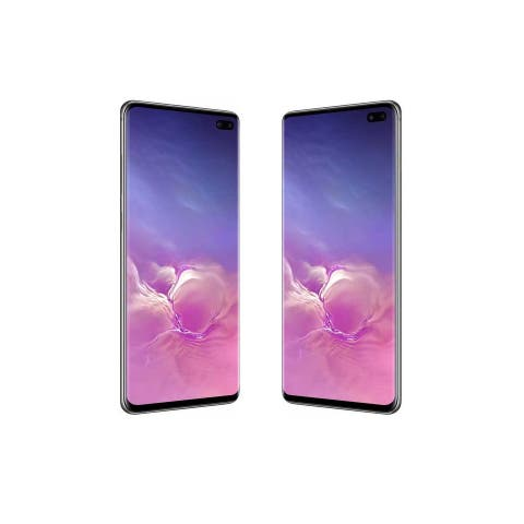 Refurbished Samsung Galaxy S10 Plus + 128GB Fully Unlocked Prism Black - Prism Black
