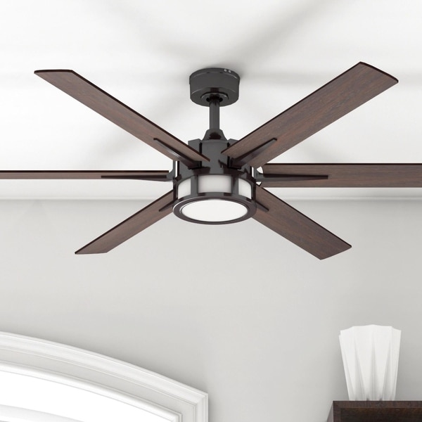 Honeywell Kaliza LED 6-blade 56-inch Espresso Ceiling Fan with Remote. Opens flyout.