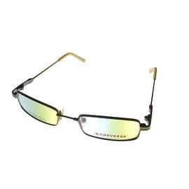 Converse Mens Opthalmic Eyeglass Modified Rectange Metal Frame Dunk Brown