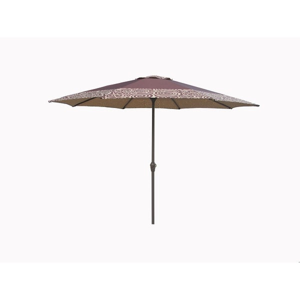 Shop Outdoor Patio Market Umbrella 9 Ft With Hand Crank And Tilt