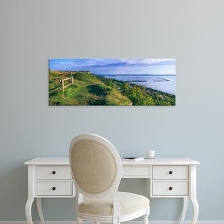 Easy Art Prints Panoramic Images's 'Landscape, Portland, Dorset, England' Premium Canvas Art