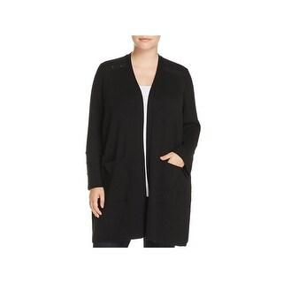 Love Scarlett Womens Plus Duster Sweater Drapey Long Sleeves - 2X