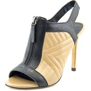 Charles David Inverse Women Peep-Toe Leather Nude Slingback Heel