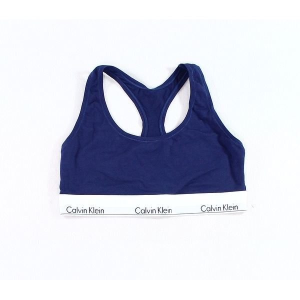 6a02abdb69a Shop Calvin Klein NEW Blue Womens Size Large L Wire-Free Logo Sports Bras -  Free Shipping On Orders Over  45 - Overstock.com - 21226212