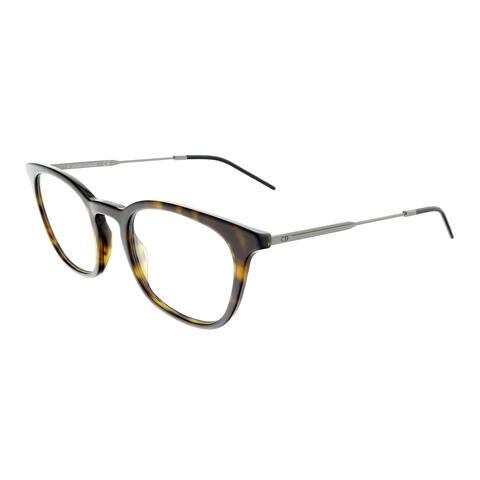 DIOR HOMME BLACKTIE231 Havana Ruthenium Square Eyeglasses - 51-22-150