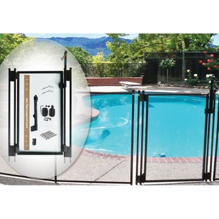 Self-Closing Gate Kit, by Pool fence DIY (Option: Brown)