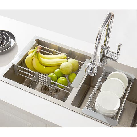 Kitchen Retractable Draining Rack Sink Water Rack Basket